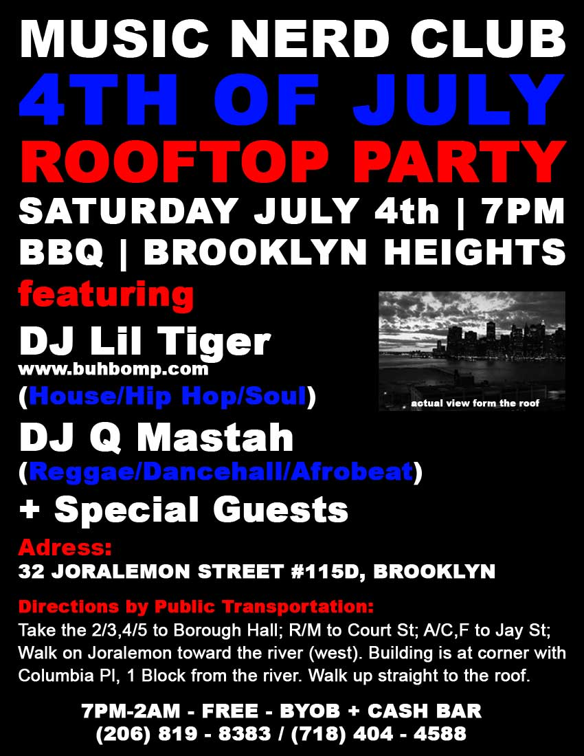 4th of July Rooftop BBQ Party