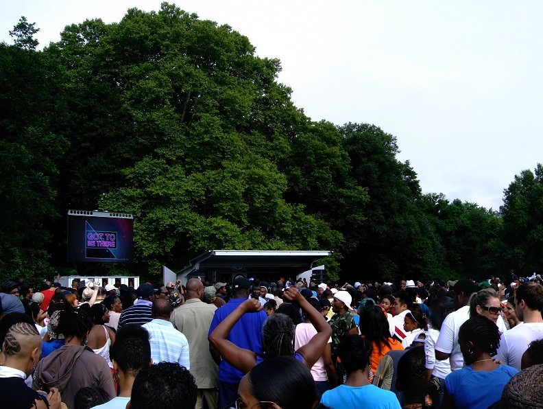 The crowd at Prospect Park